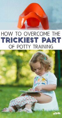 Potty training isn't always easy, but there's one challenging part of it that happens long after the child has started using the potty on their own.