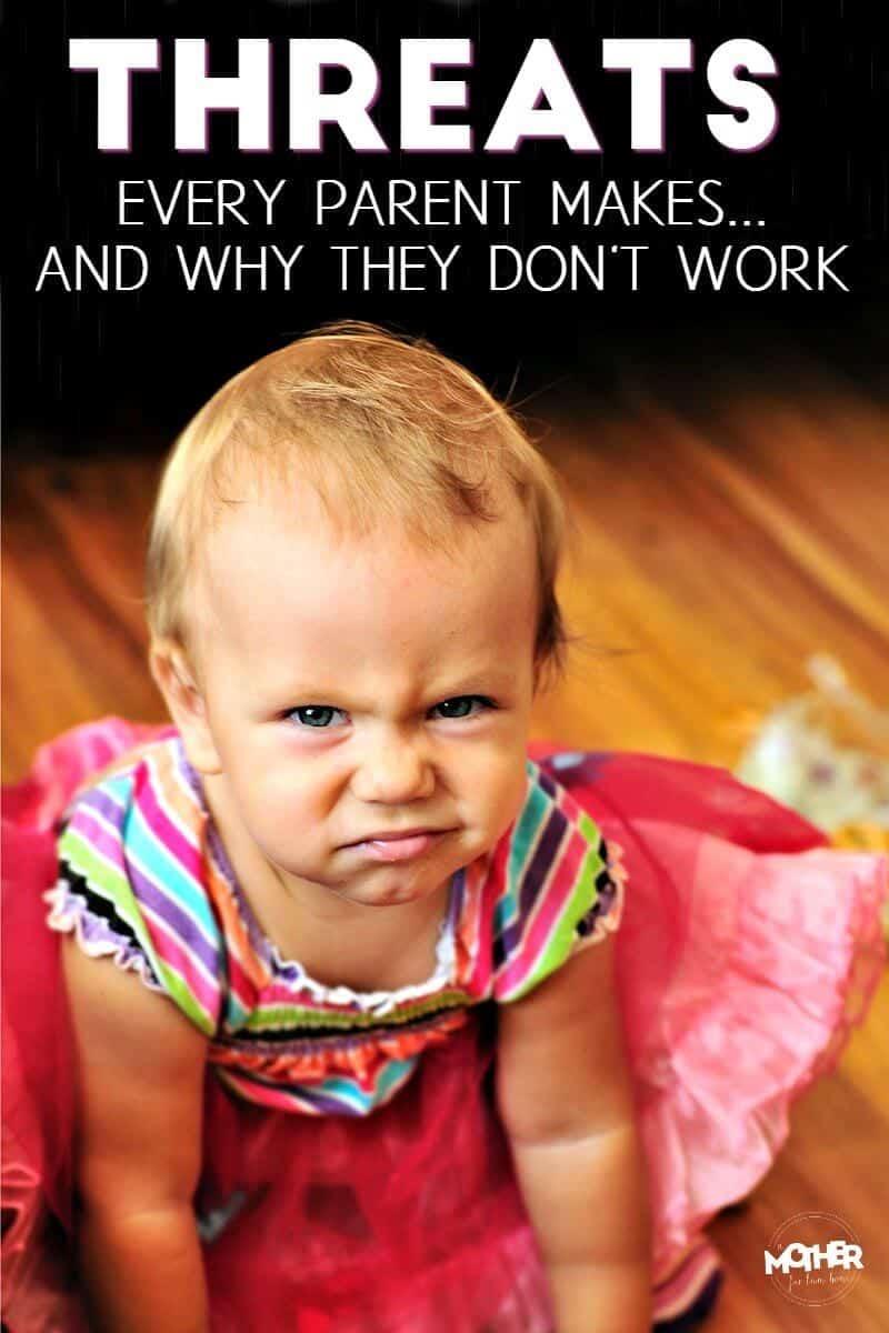 toddler making mean face at camera