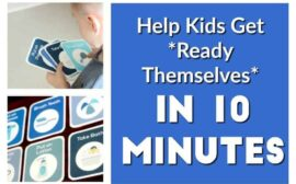 Want your child to get themselves ready independently? Here are some printable daily routine for kids that work wonders!