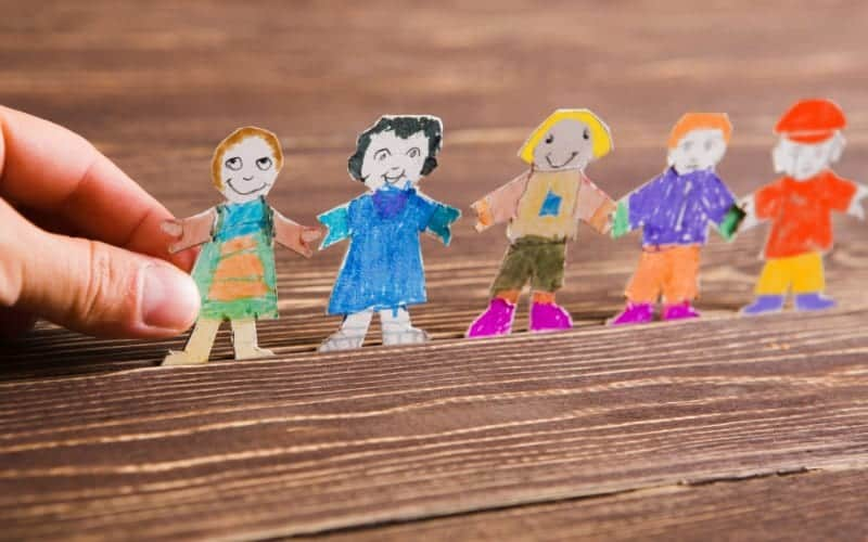 after school routines, paper kid cut outs