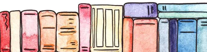 homeschooling books in watercolor