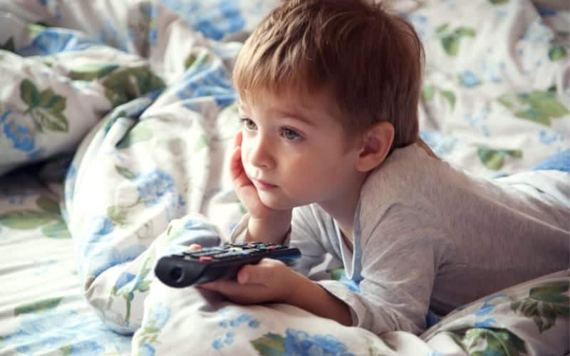 kid watching tv stress busters for moms