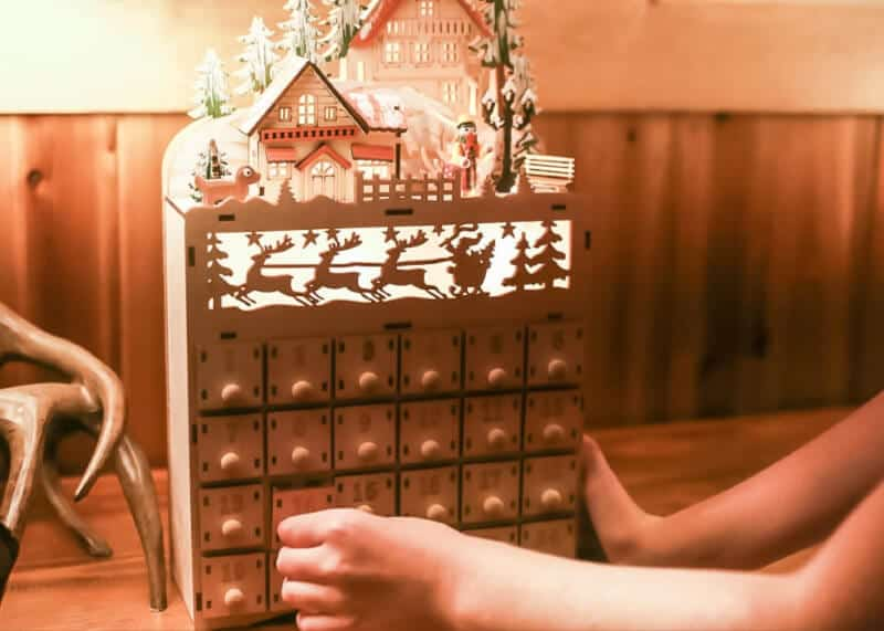 Use an advent calendar to help with a stress free Christmas.