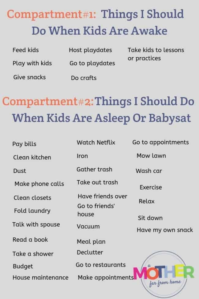things i should do when kids are awake and things i should do when kids are asleep or babysat