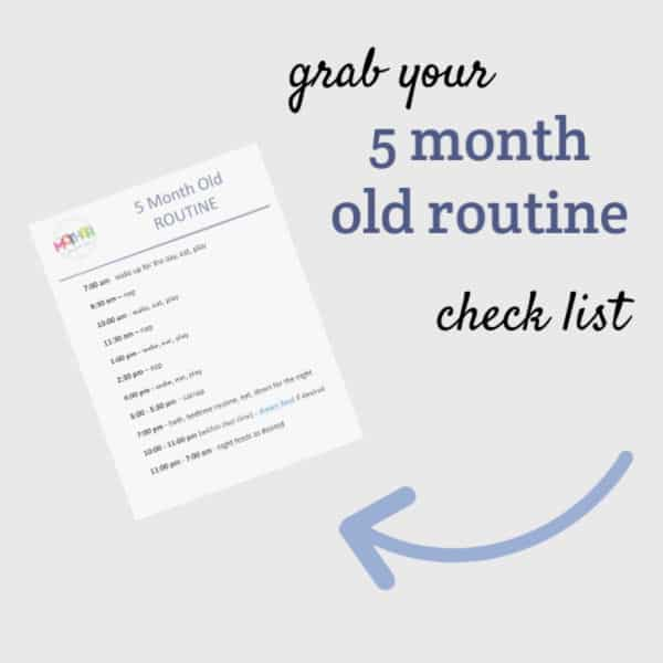 five month old routine checklist