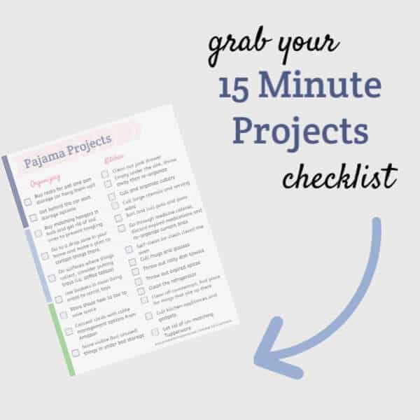 15 minute projects checklist