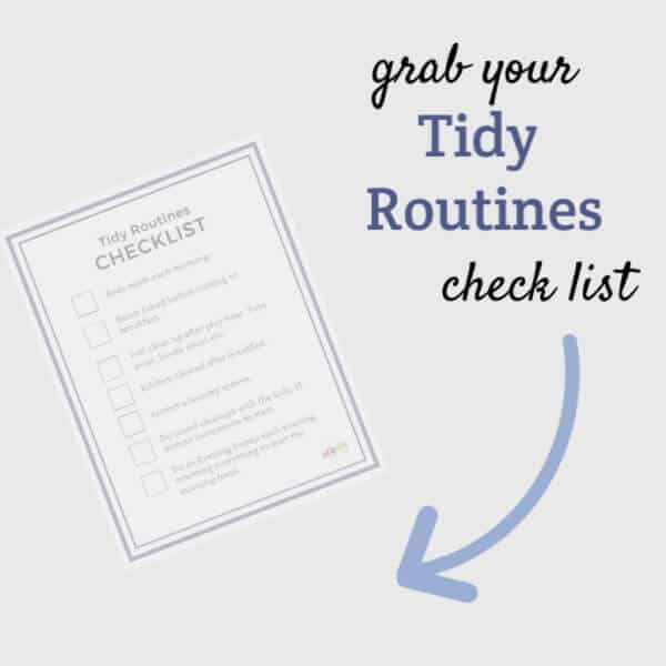 printable tidy routines checklist