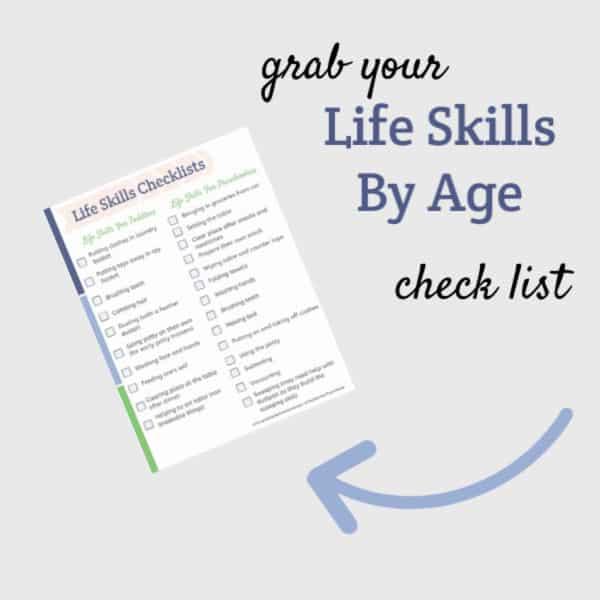 life skills by age checklist