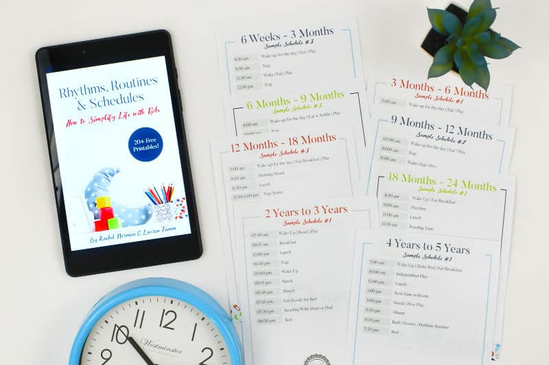 rhythms, routines & schedules book and printable routines