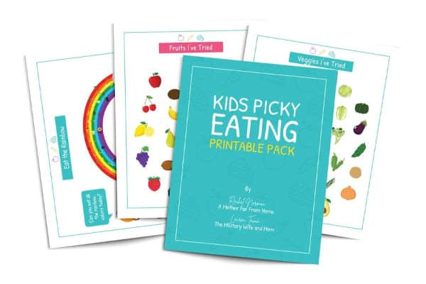 kids picky eating printable pack
