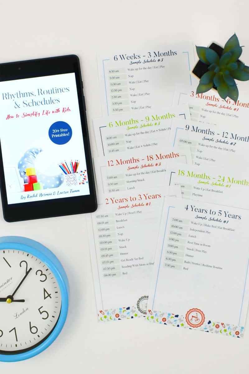 rhythm and routines book for babies and toddlers