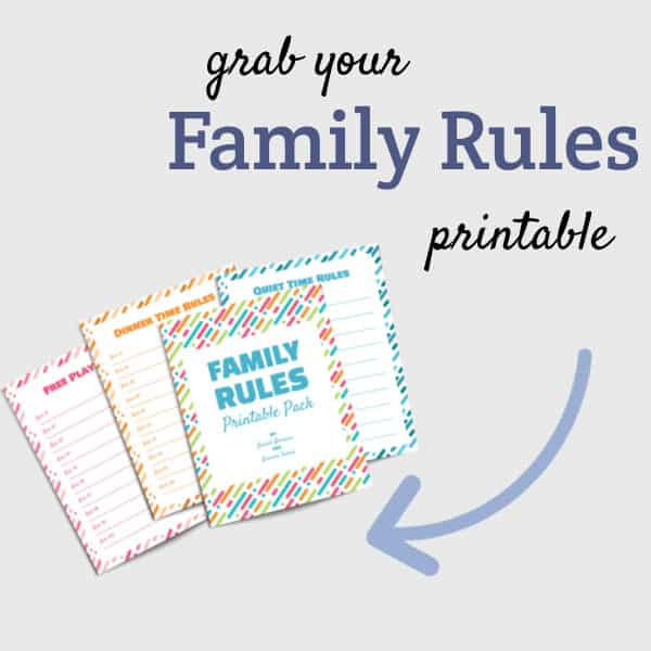 family rules brainstorm printable checklist