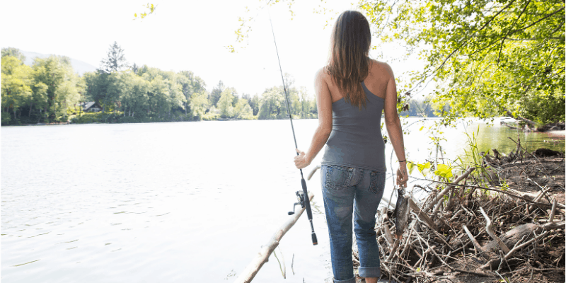 This hobbies for mom is a fishing mom.