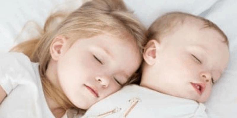 Babies asleep without sleep prop
