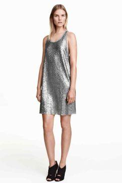 Silver dress H&M