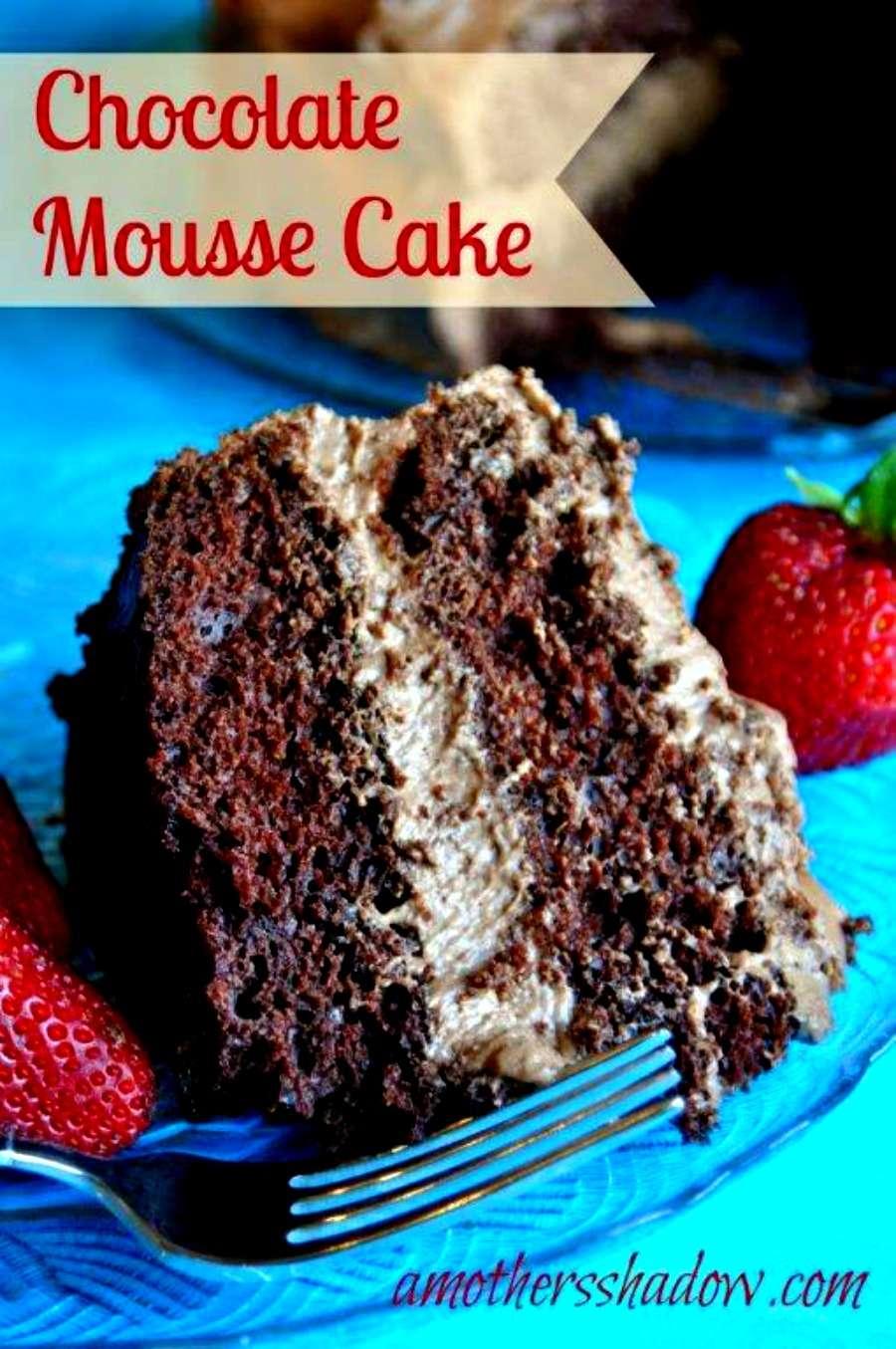 Easy Choc Mousse Cake