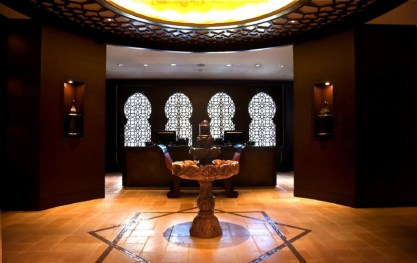 Miraj Hammam, Toronto, Canada Serenity and bliss can be found within the cacophony of the big city — just step into the decadently elegant Shangri La Hotel, and within it, the luxurious and tranquil Miraj Hammam Spa. Designed to whisky you away to Morocco's famed and favoured spa aesthetic without having to leave your city, the Miraj Hammam is world's away and instantly transports and transforms. Traditional treatments, like the gommage (scrub) get a modern, lavish twist, as it's perfomed on Jerusalem gold marble.