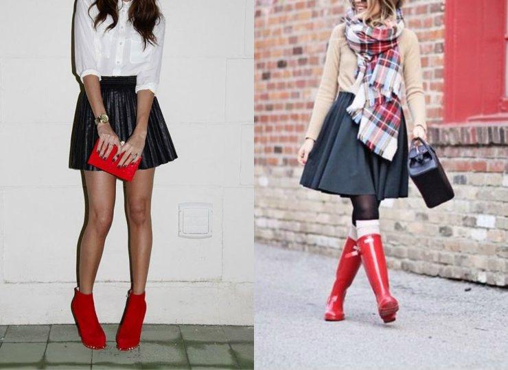 amourblogetbeaute-Comment-porter-les-bottes-rouges-Jupe-plissée