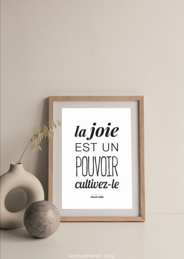 Affiche La joie est un pouvoir, cultivez-le