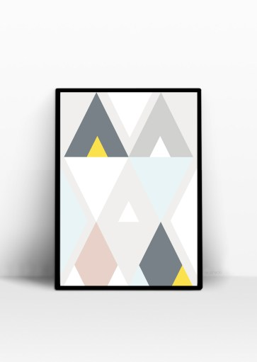 Affiche Triangle scandinave