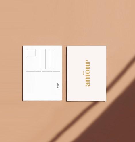 Carte postale mon amour recto verso