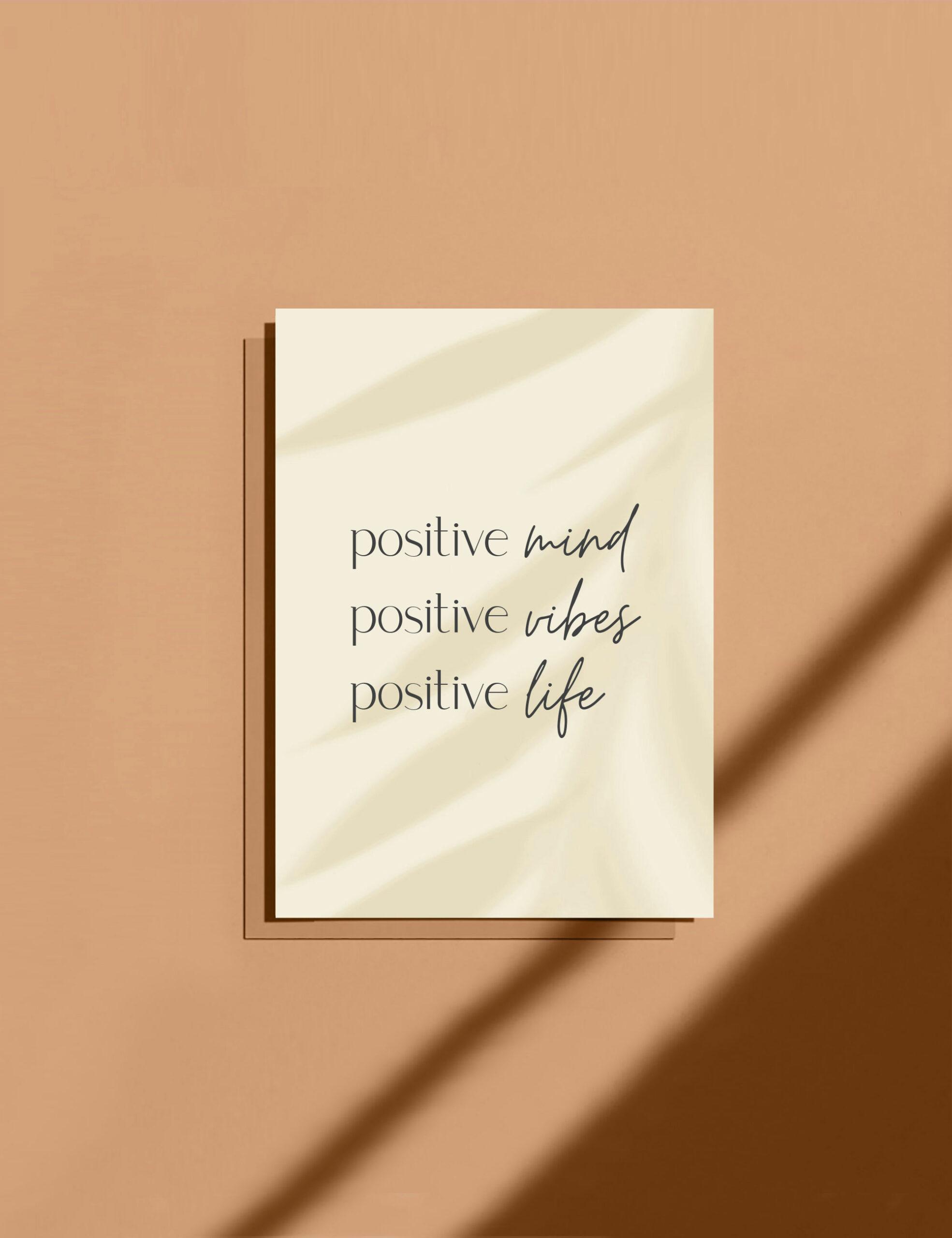 carte positive mind positive vibes