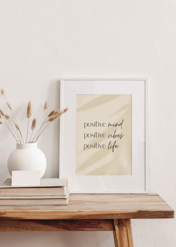 Affiche Positive Vibes à imprimer