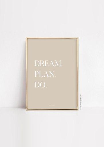 Affiche Dream Plan Do à imprimer