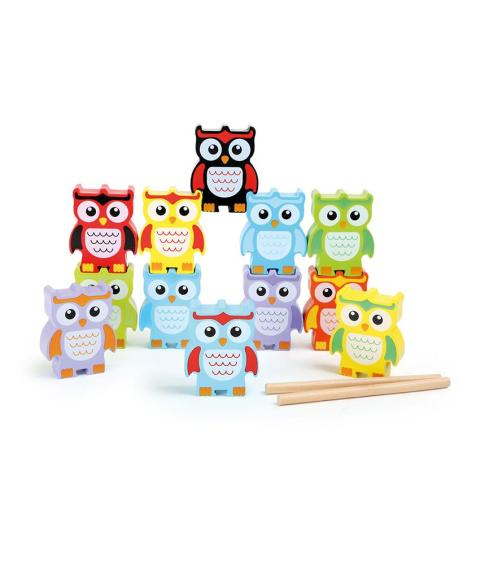 Stacking Wooden Owls by Legler