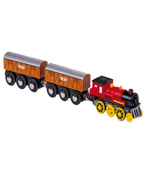Legler Electric Loco With 2 Trailers
