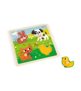 Janod – Tactile Puzzle First Animals