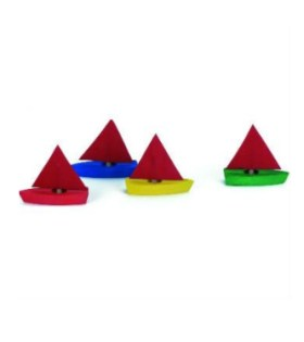 Gluckskafer – Mini Wooden Sailing Boats Set of 4 4.5cm PRODUCTS