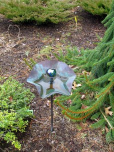 metalwork butterfly watering station