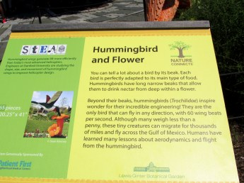 LegoHummingbirdflowersignGinterRichmond17July2016