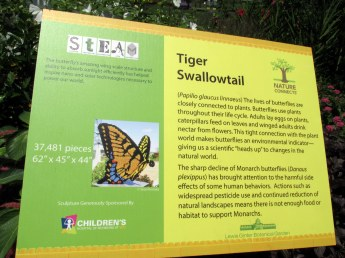 LegoswallowtailbutterflysignGinterRichmond17July2016