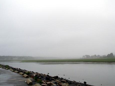 rain dissolving, Footbridge, Ogunquit, ME, June 2015