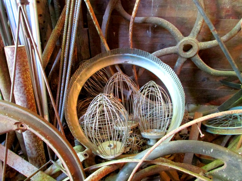 whisks in salvage barn