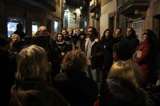 Pedro Feijoo quiso chamar a atención sobre varios edificios que se erixen na rúa Real
