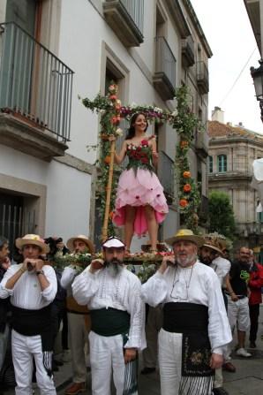 Unha imaxe da Festa dos Maios nunha edición pasada | AVV Casco Vello