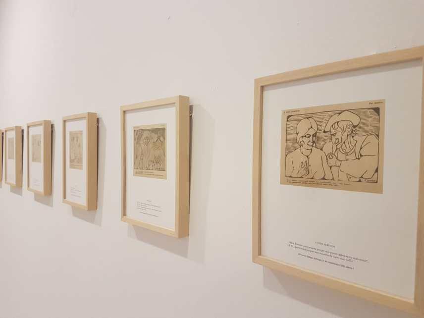 Unha imaxe da exposición na Fundación Laxeiro