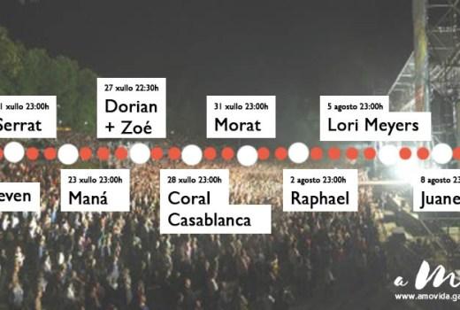 Calendario de concertos en Castrelos
