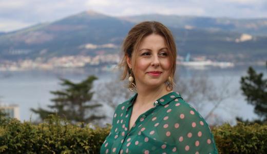 """María Soliño: """"Tiña unha gran inquietude por escribir unha historia  transcendental"""""""