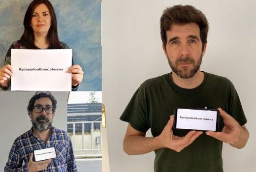 Numerosas caras coñecidas por unha mesma causa: #yoayudoalbancobueno