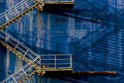 Azul industrial case residencial
