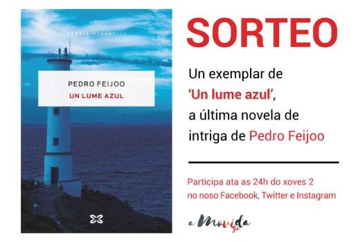 Gaña un exemplar de 'Un lume azul', último traballo de Pedro Feijoo