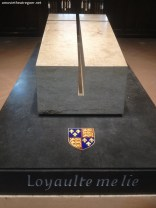 Richard III grave inside the cathedral 2