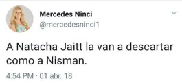 Muerte de Natacha Jaitt: el tuit fake de Mercedes Ninci que se viralizó en redes | Mirtha Legrand, Natacha Jaitt, Redes Sociales, Twitter