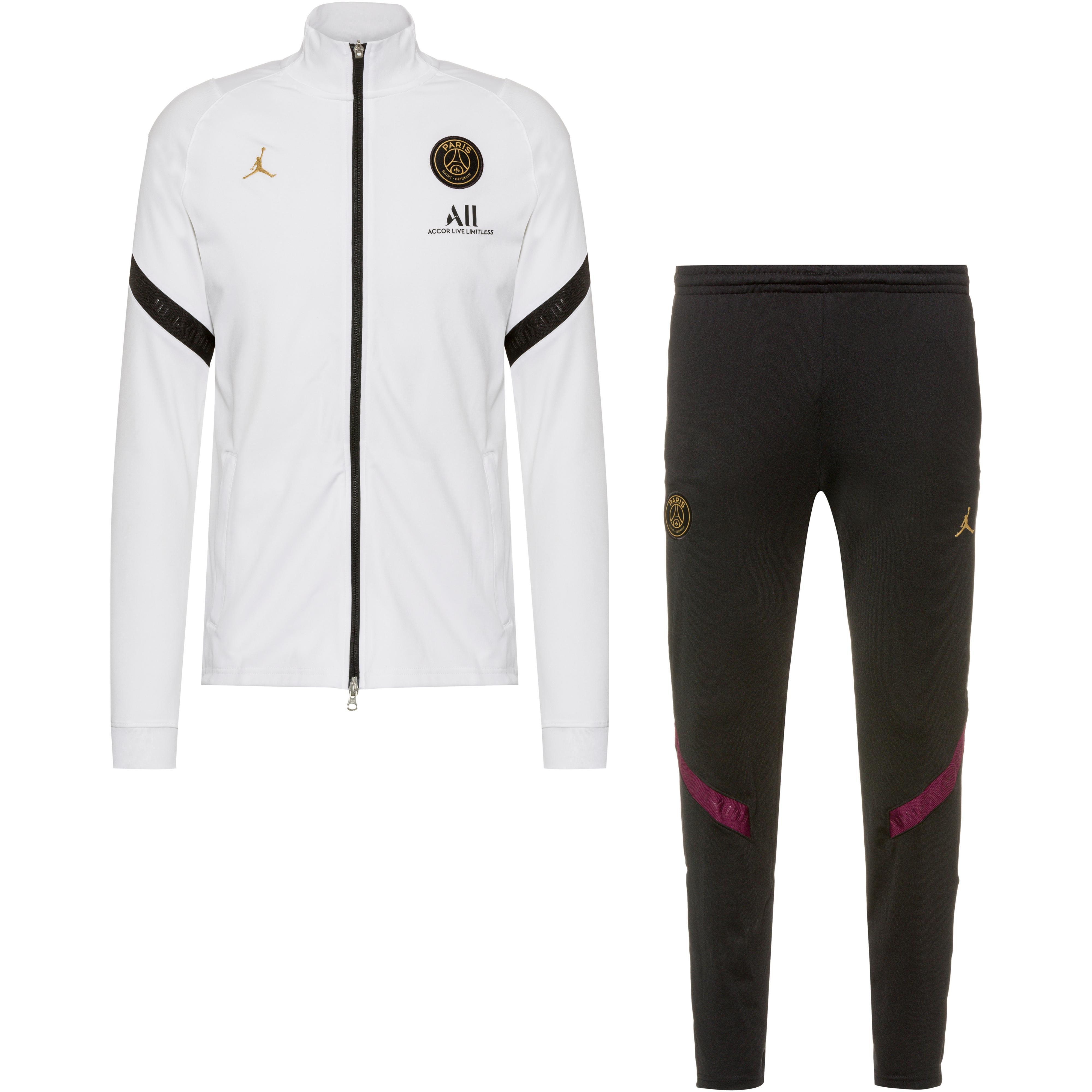 nike paris saint germain trainingsanzug herren white black black truly gold im online shop von sportscheck kaufen