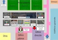 Mapa de la zona de juegos de l@s niñ@s de 1º, 2º y 3º.