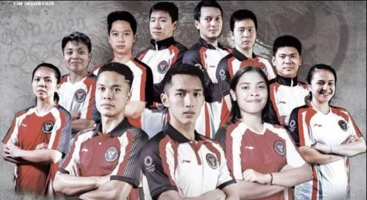 Tim bulu tangkis Indonesia pada Olimpiade Tokyo. (Sumber: Instagram.com/@timindonesiaofficial)